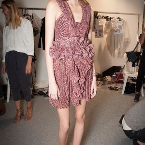 Isabel Marant Red Burgundy Dress 38